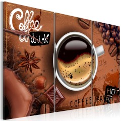 Artgeist Wandbild - Cup of hot coffee