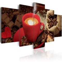 Artgeist Wandbild - Love espresso