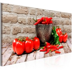 Artgeist Wandbild - Red Vegetables (1 Part) Brick Narrow