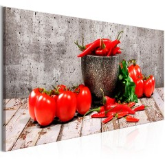 Artgeist Wandbild - Red Vegetables (1 Part) Concrete Narrow