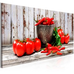 Artgeist Wandbild - Red Vegetables (1 Part) Wood Narrow