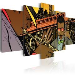 Artgeist Wandbild - Jazz im Comic
