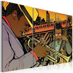 Artgeist Wandbild - Jazz-Musiker