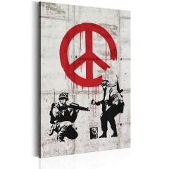 Artgeist Wandbild -  Soldiers Painting Peace by Banksy
