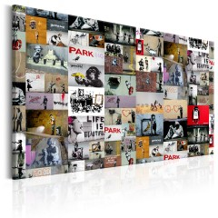 Artgeist Wandbild - Art of Collage: Banksy