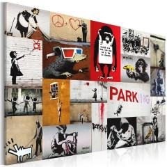 Artgeist Wandbild - Banksy - Collage