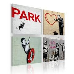 Artgeist Wandbild - Banksy - städtische Inspiration