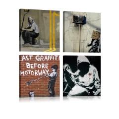 Artgeist Wandbild - Banksy - Street Art