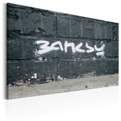 Artgeist Wandbild - Banksy - Unterschrift