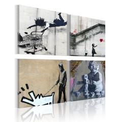 Artgeist Wandbild - Banksy - vier originelle Ideen