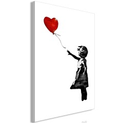 Artgeist Wandbild - Banksy: Girl with Balloon (1 Part) Vertical