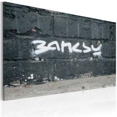 Artgeist Wandbild - Banksy: Unterschrift