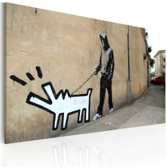 Artgeist Wandbild - Bellender Hund (Banksy)