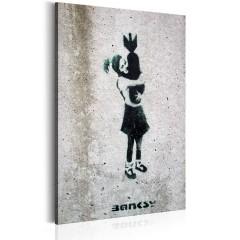 Artgeist Wandbild - Bomb Hugger by Banksy