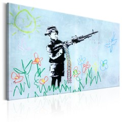 Artgeist Wandbild - Boy with Gun by Banksy