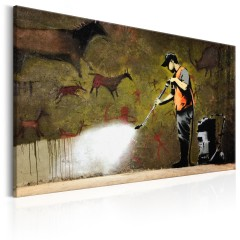 Artgeist Wandbild - Cave Painting by Banksy