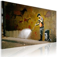 Artgeist Wandbild - Das Weißen von Lascaux (Banksy)