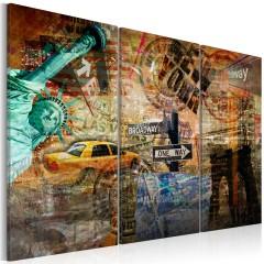 Artgeist Wandbild - Das Wesen von NYC