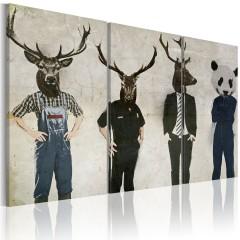 Artgeist Wandbild - Der Mensch ist auch nur ein Tier