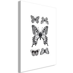 Artgeist Wandbild - Five Butterflies (1 Part) Vertical