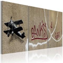 Artgeist Wandbild - Flugzeug (Banksy)