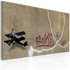 Artgeist Wandbild - Flugzeug der Liebe (Banksy)