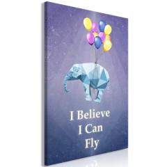 Artgeist Wandbild - Flying Elephant (1 Part) Vertical