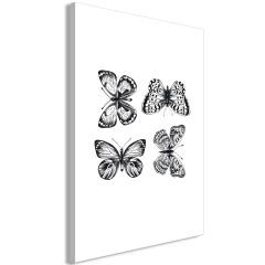 Artgeist Wandbild - Four Butterflies (1 Part) Vertical