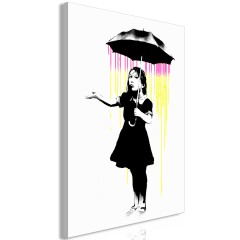 Artgeist Wandbild - Girl with Umbrella (1 Part) Vertical