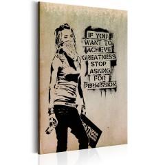 Artgeist Wandbild - Graffiti Slogan by Banksy