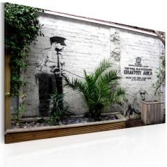 Artgeist Wandbild - Graffiti Zone (Banksy)