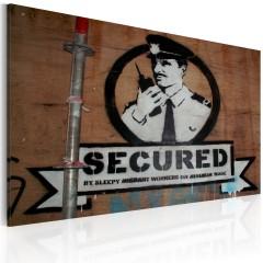 Artgeist Wandbild - Hier sind wir in Sicherheit (Banksy)