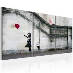 Artgeist Wandbild - Hoffnung gibt es immer (Banksy) - Triptychon