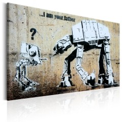 Artgeist Wandbild - I Am Your Father by Banksy