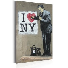 Artgeist Wandbild - I Love New York by Banksy