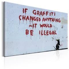 Artgeist Wandbild - If Graffiti Changed Anything by Banksy