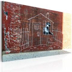 Artgeist Wandbild - Im Hausarrest (Banksy)