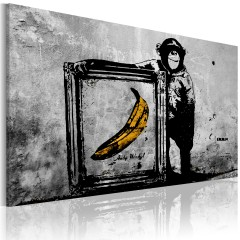 Artgeist Wandbild - Inspired by Banksy - black and white