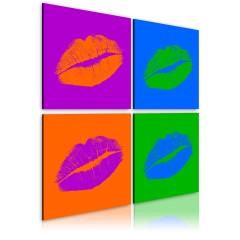 Artgeist Wandbild - Küsse: Pop-Art