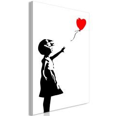 Artgeist Wandbild - Little Girl with a Balloon (1 Part) Vertical