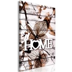 Artgeist Wandbild - Living Home (1 Part) Vertical