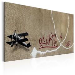 Artgeist Wandbild - Love Plane by Banksy