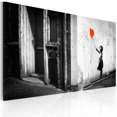 Artgeist Wandbild - Mädchen mit Balloon (Banksy)