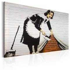 Artgeist Wandbild - Maid in London by Banksy
