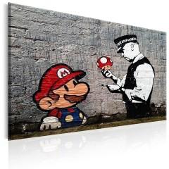 Artgeist Wandbild - Mario and Cop by Banksy
