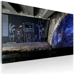 Artgeist Wandbild - Mein eigenes Stück Boden (Banksy)
