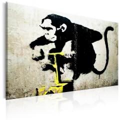 Artgeist Wandbild - Monkey Detonator by Banksy