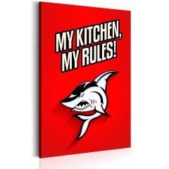 Artgeist Wandbild - My kitchen, my rules!