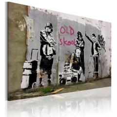 Artgeist Wandbild - Old school (Banksy)
