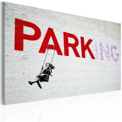 Artgeist Wandbild - Parking (Banksy)
